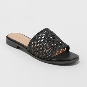 Ellen Woven Slide Sandals- Universal Thread